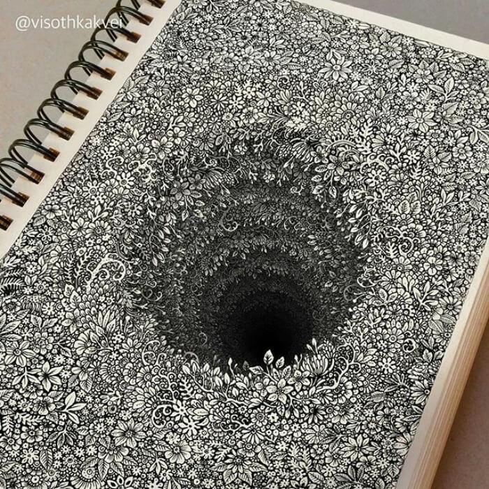 optical illusion drawings viso thkakvei