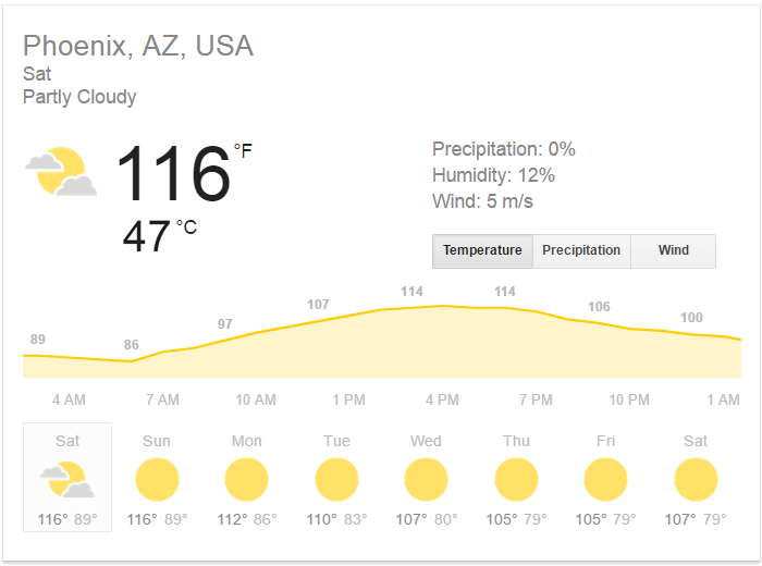 phoenix arizona heatwave pictures