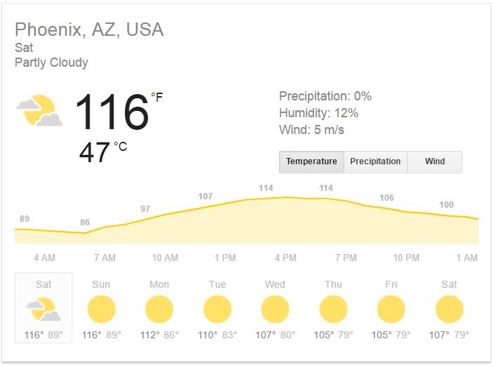 phoenix arizona heatwave pictures