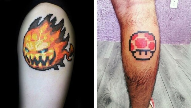 69bb95500 59 Pixel Tattoo Designs That Remind Us How Much We Love Video Games