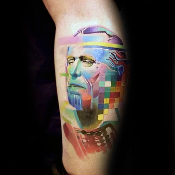 pixel design tattoo 22