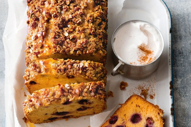 Apple And Blueberry Streusel Olive Oil Loaf