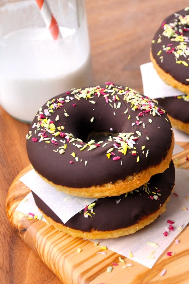 Chocolate Glazed Doughnuts - gluten free baking recipes