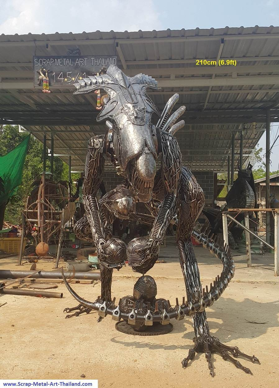 Scrap Metal Sculptures thailand 21 (1)