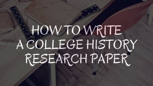 How to write a history research paper on a person