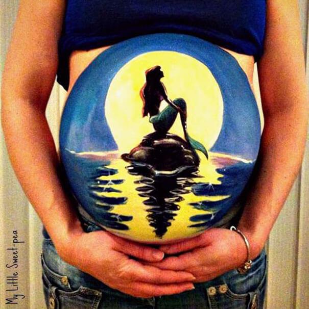 pregnancy bump paintings 11 (1)