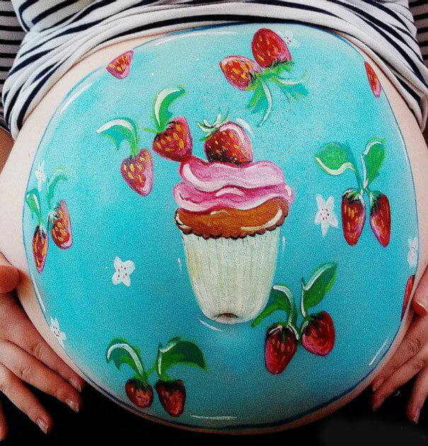 baby belly paintings 15 (1)