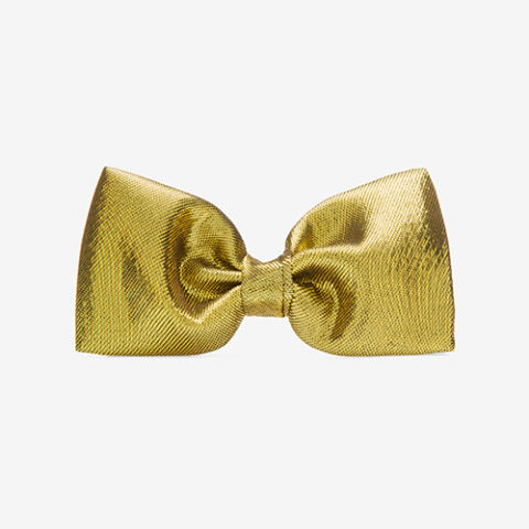 Bally Lemon Silk Crepe Bow Tie