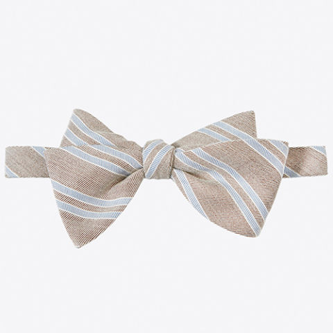 Billy Reid Textured Stripe Bow Tie