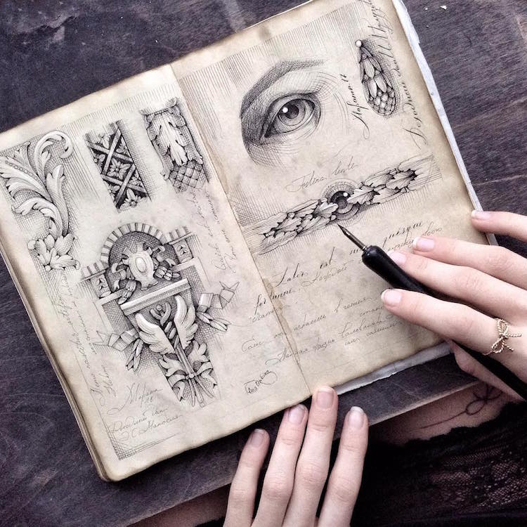 elena limkina sketchbook art