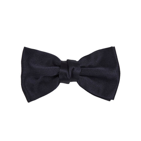 Lanvin Silk Satin Black Bow Tie