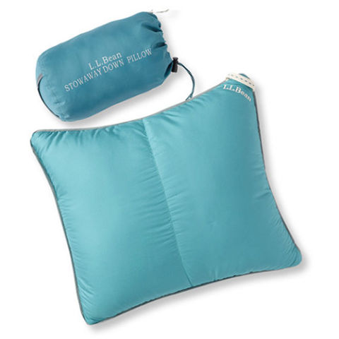 LL Bean Stowaway Down Pillow with DownTek