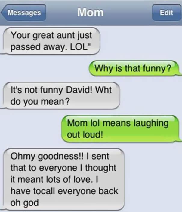 parents shouldn't text