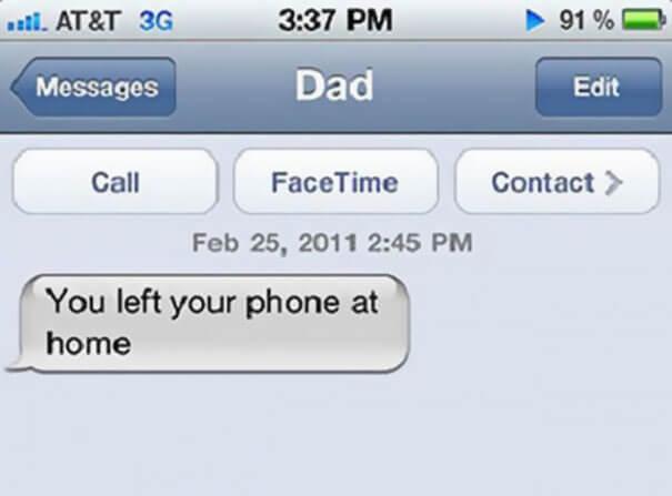 parents shouldn't sms 5