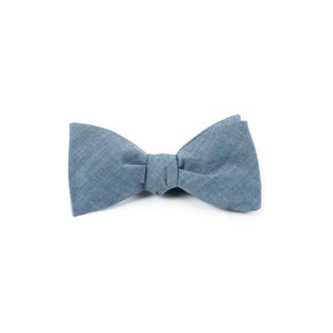 The Tie Bar Classic Chambray Bow Tie