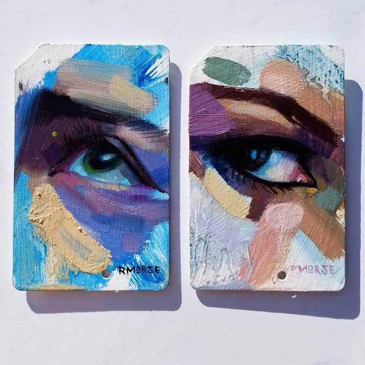 used metro cards miniature paintings 6 (1)