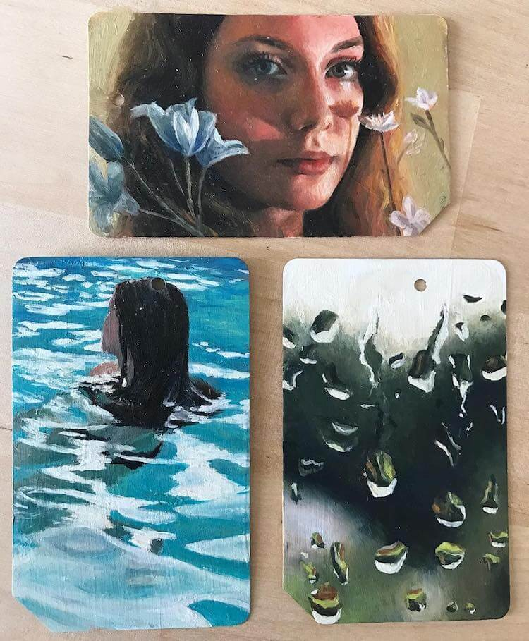 used metro cards miniature paintings 9 (1)