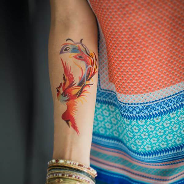 watercolour tattoo 12