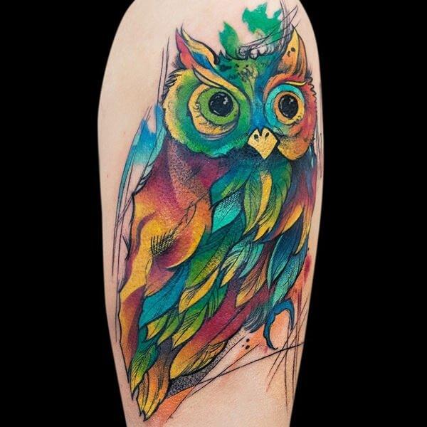 watercolour tattoo 13