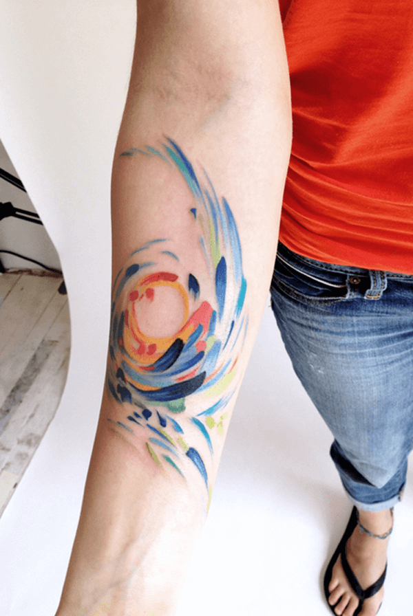 watercolor tattoo 2