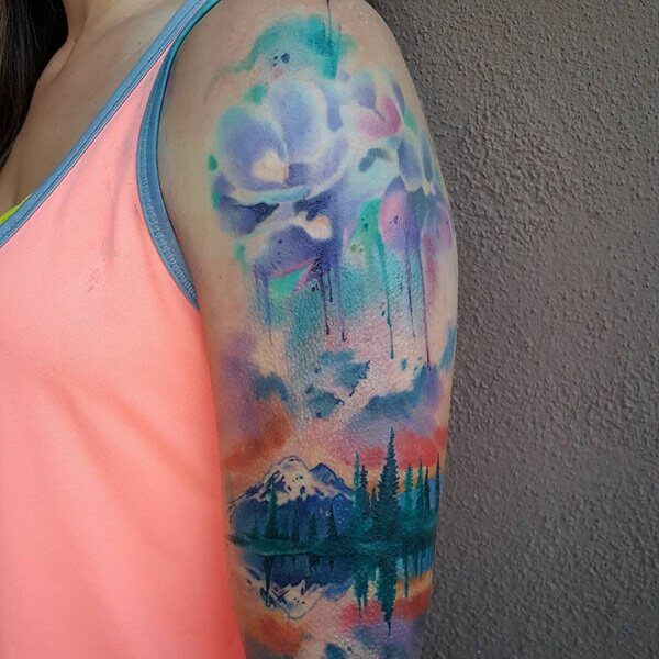 watercolor tattoos 21