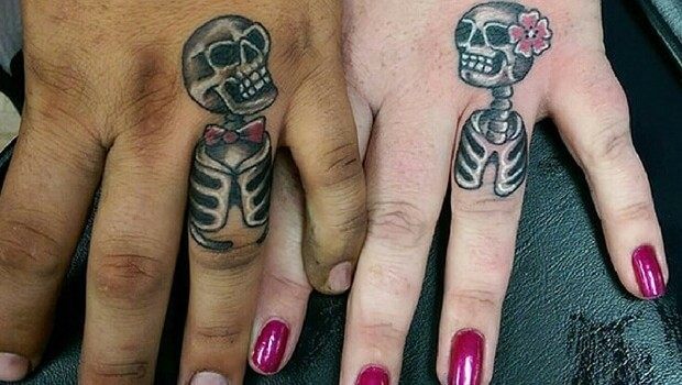52 Wedding Tattoos By Couples Who Mark Their Big Day By