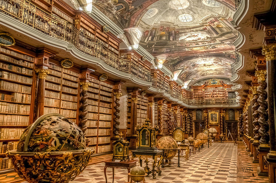 worlds most beautiful library klementinum library (1)