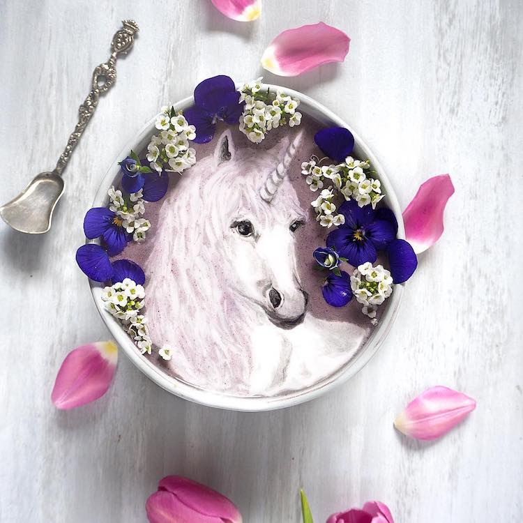 Beautiful Art on Smoothie Bowls 12