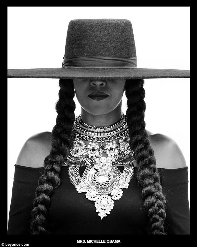 Michelle Obama recreates beyonce formation picture (1)
