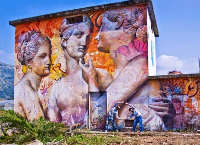 PichiAvo greek gods graffiti 10 (1)