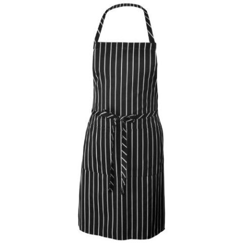 Chef Works Chalk Stripe Bib Apron With Pockets