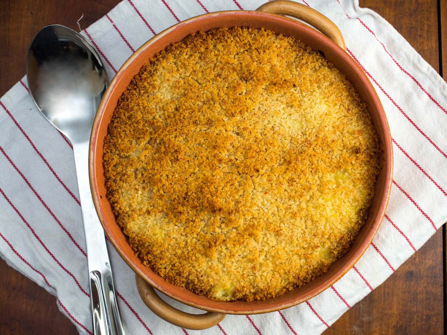 Baked Saffron Risotto With Mozzarella and Crispy Topping