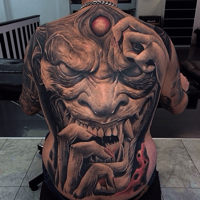 33 Scary Tattoos That Are So Creepy They Will Haunt Your