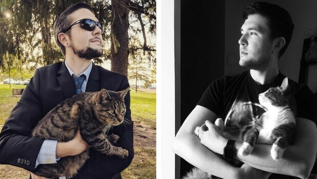 man takes pictures with every cat he meets feat (1)