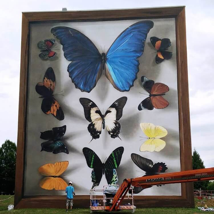 mantra butterfly murals 5