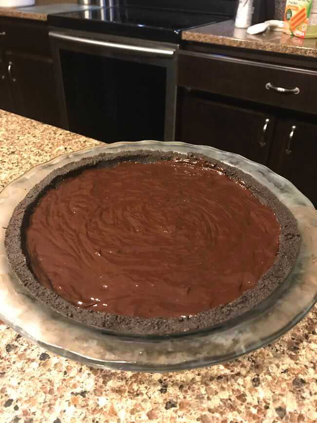 Dark Chocolate Peanut Butter Pie with an Oreo Crust 8 (1)