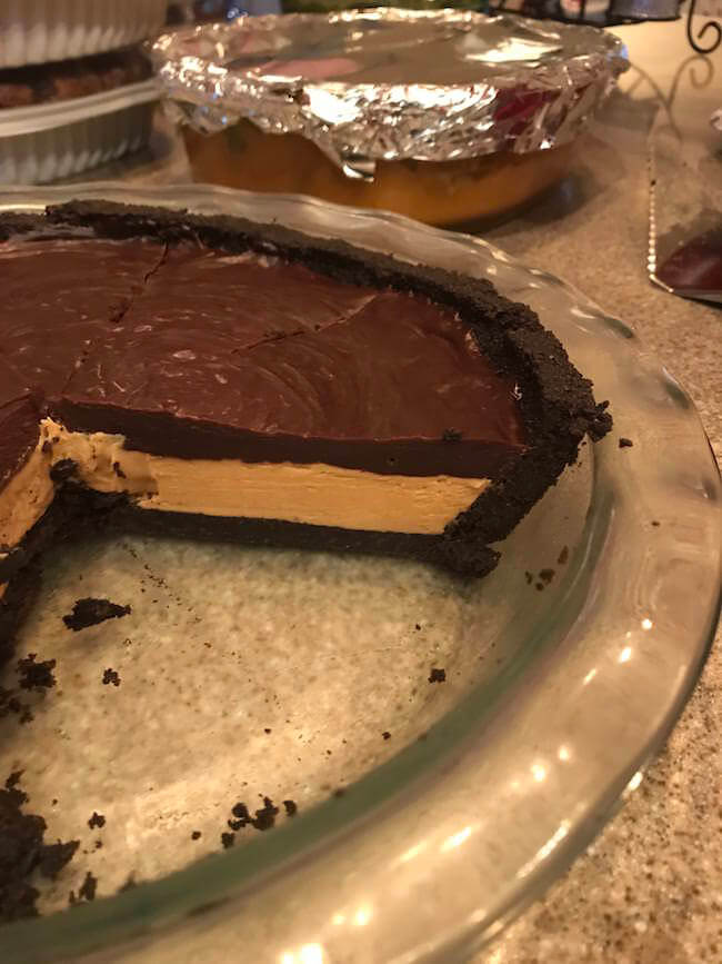 Dark Chocolate Peanut Butter Pie with an Oreo Crust 9 (1)