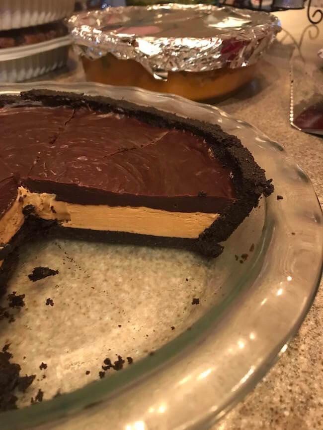 Dark Chocolate Peanut Butter Pie with an Oreo Crust 9 (1)