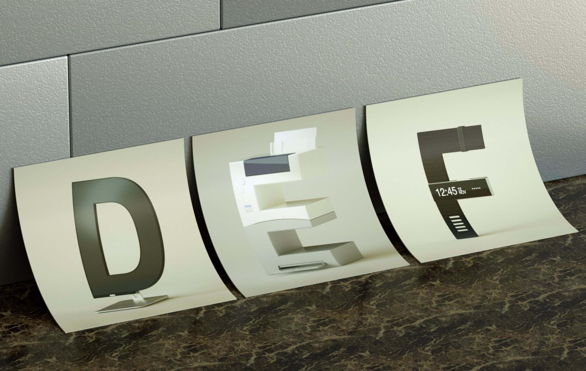 alphabet rendered vintage electronic gadgets 12 (1)