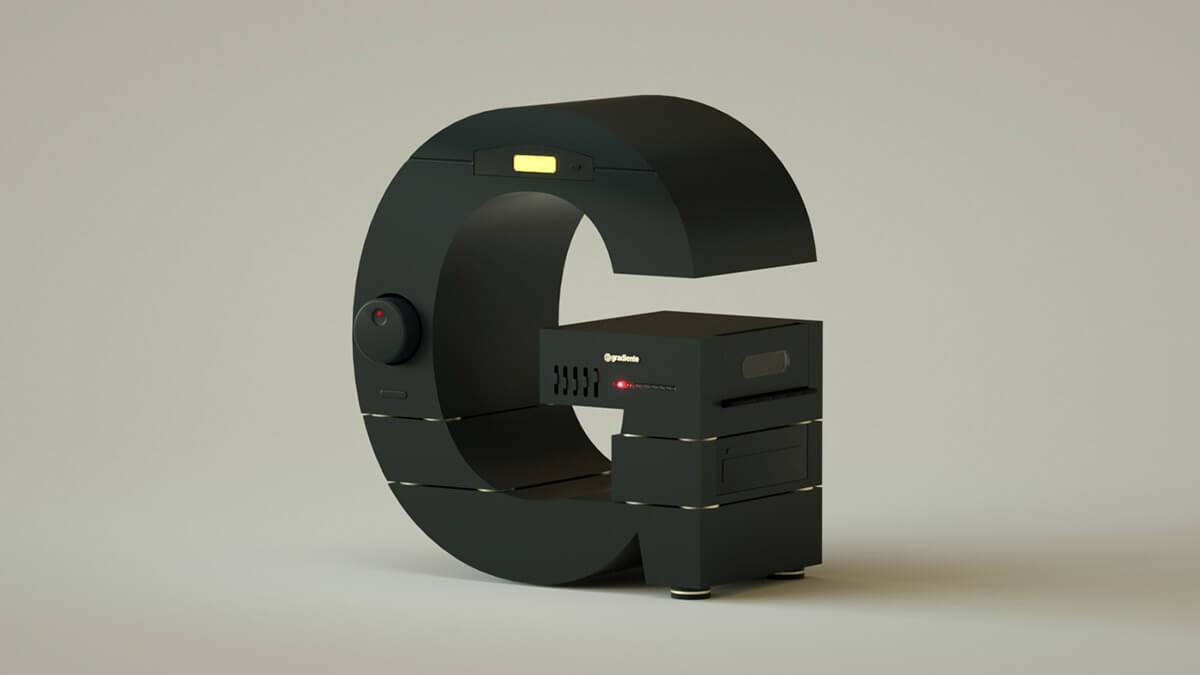 alphabet rendered vintage electronic gadgets 23 (1)