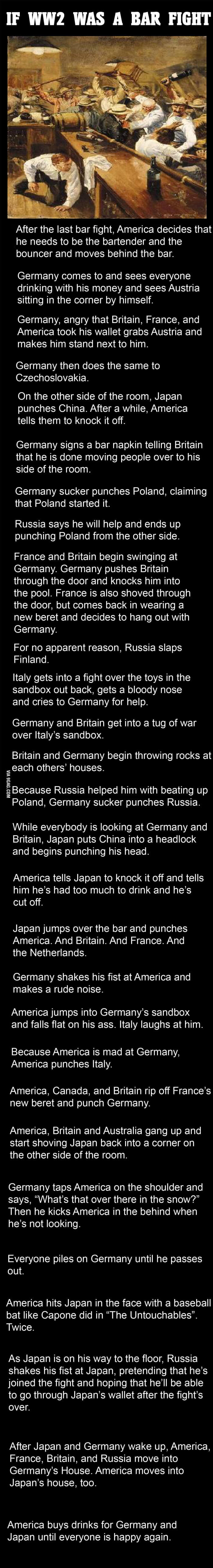 if world war 2 was a bar fight (1)
