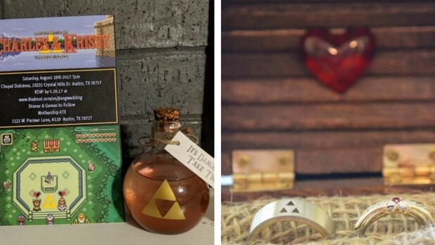 This Couple Had A Zelda Themed Wedding Where Guests Played Games All