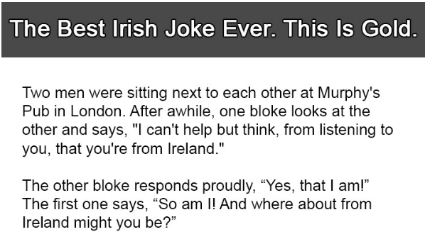 Best Irish Joke Ever 16