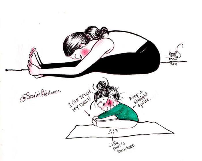 Yoga thoughts Vs Reality 4 (1)