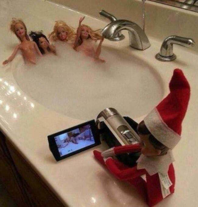 24 Bad Elf On The Shelf Pictures Proving Dads Everywhere ...