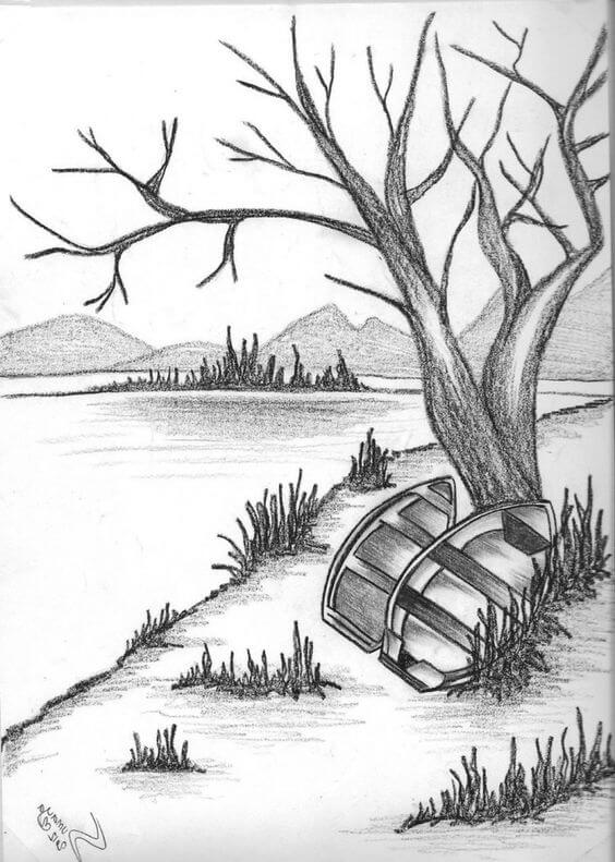 pencil sketches of nature 6 (1)