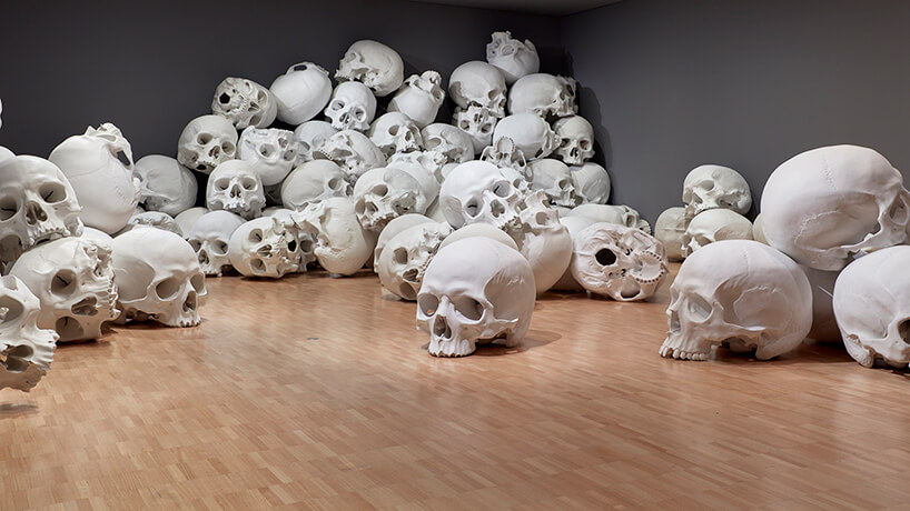 ron mueck huge skulls 9 (1)