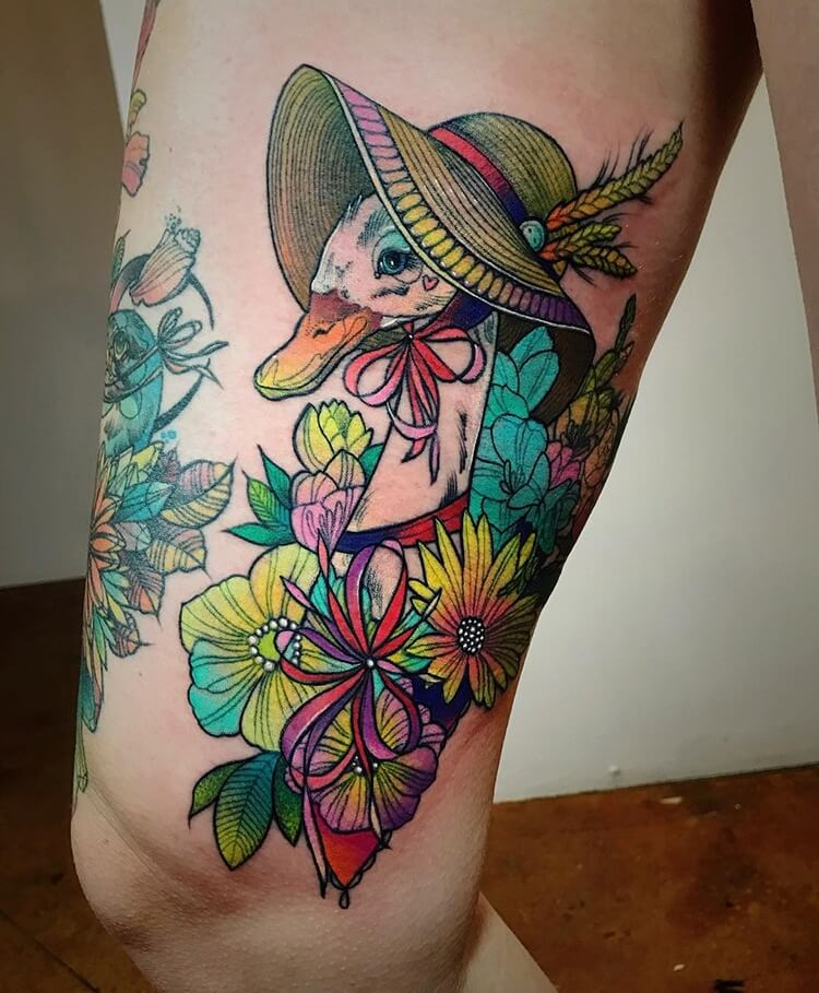 vibrant geometric tattoos 10 (1)
