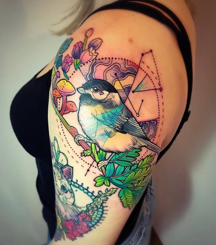 vibrant geometric tattoos 11 (1)
