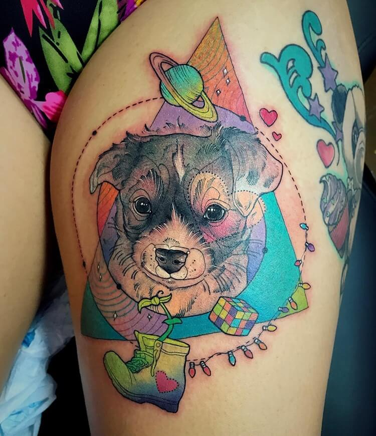 vibrant geometric tattoos 12 (1)